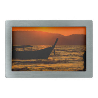 Sunset at Ao Nang beach Rectangular Belt Buckles