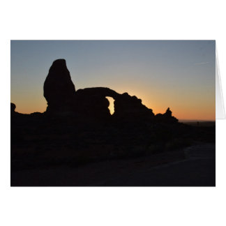 Sunset at Arches National Park Card