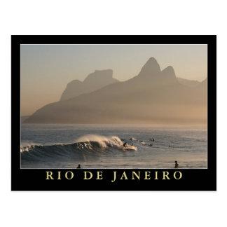 """""""Sunset at Arpoador, Rio de Janeiro"""" postcard"""