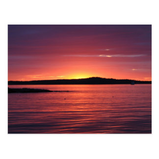 Sunset at Bar Harbor, Maine Postcard