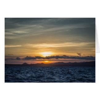 Sunset at Bartolome Island Card