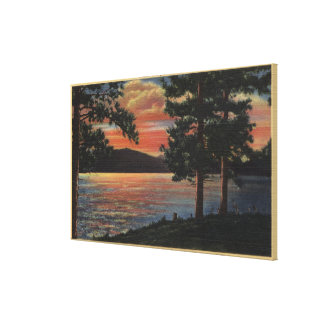 Sunset at Big Bear Lake Gallery Wrap Canvas