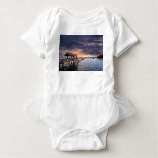 Sunset at Boulevard Park in Bellingham Washington Baby Bodysuit