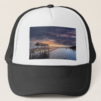 Sunset at Boulevard Park in Bellingham Washington Trucker Hat