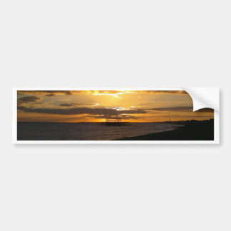 Sunset At Brighton Beach Bumper Sticker