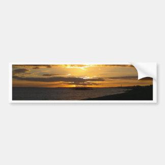 Sunset At Brighton Beach Bumper Stickers