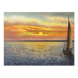 Sunset At Cape Cod Postcard