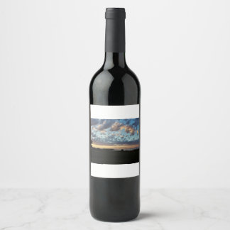 Sunset at Caribou Island Provincial Park Wine Label