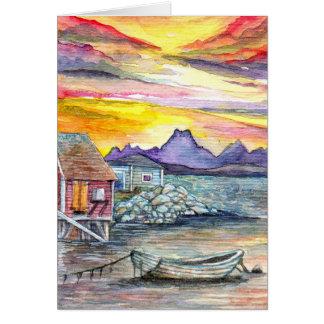 Sunset at Dock Card