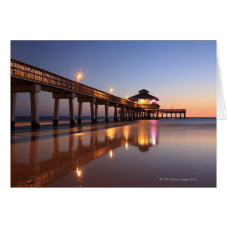 Sunset at Fishing Pier, Fort Myers Beach, Card
