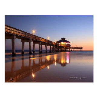 Sunset at Fishing Pier, Fort Myers Beach, Postcard