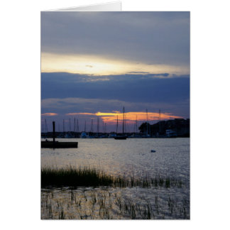 Sunset At Folly Harbor Card