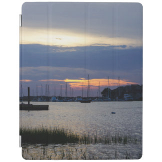 Sunset At Folly Harbor iPad Cover