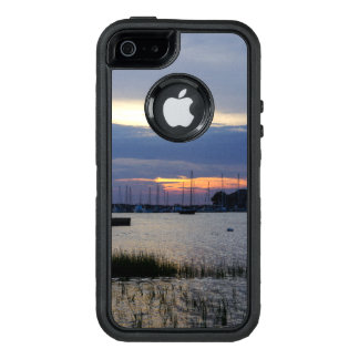 Sunset At Folly Harbor OtterBox Defender iPhone Case