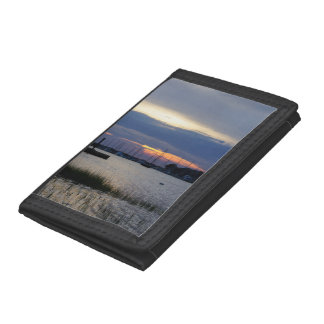 Sunset At Folly Harbor Trifold Wallet