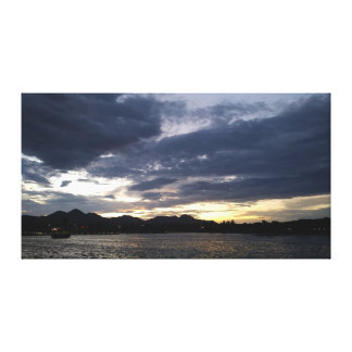 Sunset at Fountain Park Canvas Print