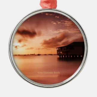 Sunset at Grand Barbados Beach Metal Ornament