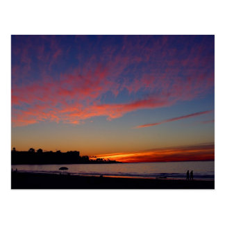 Sunset At La Jolla Shores Postcard