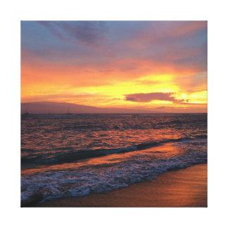 Sunset at Lahaina, Hawaii Canvas Print