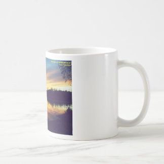 Sunset at Lake Basic White Mug