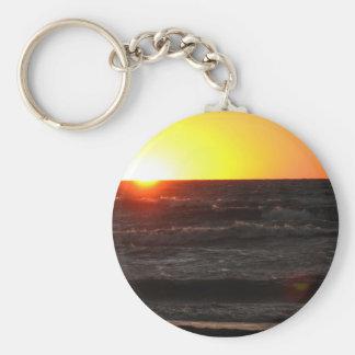 Sunset at Lake Erie Key Ring