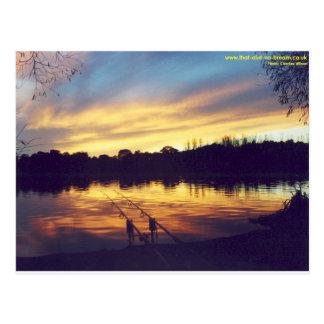 Sunset at Lake Postcard