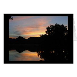 Sunset at Lake Scott State Park in Kansas Card