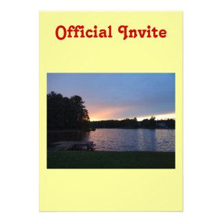 Sunset at Lake Swan Paulding Georgia Personalized Invitations