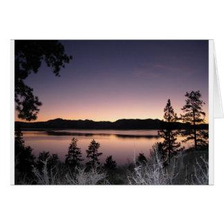Sunset at Lake Tahoe Greeting Cards