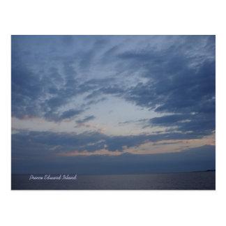Sunset at Linkletter, PEI postcard