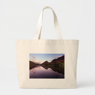 Sunset at Loch Leven, Scotland Large Tote Bag