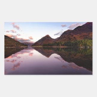 Sunset at Loch Leven, Scotland Rectangular Sticker