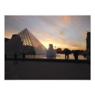 Sunset at Louvre Photo Print