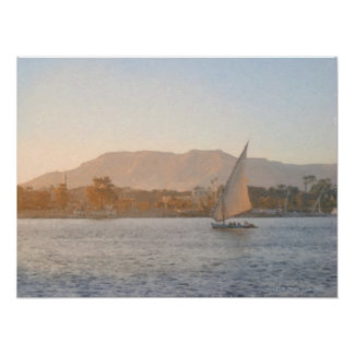 Sunset at Luxor Print