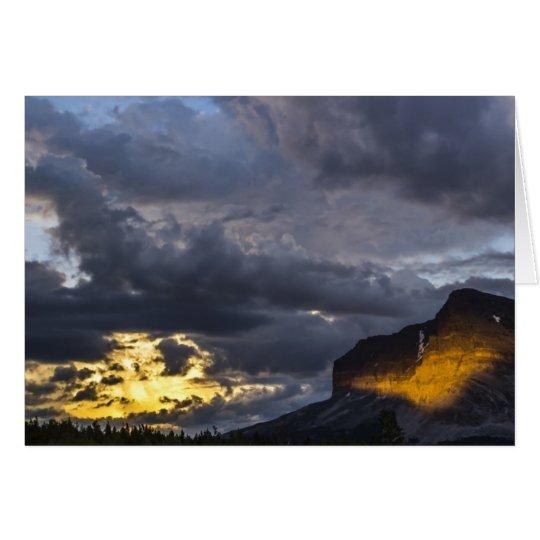 Sunset At Many Glacier Card