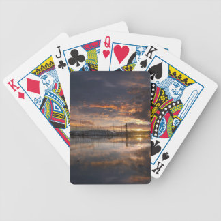 Sunset at Marina in Anacortes in Washington USA Bicycle Playing Cards