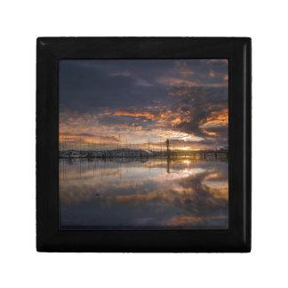 Sunset at Marina in Anacortes in Washington USA Gift Box