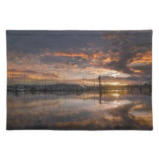 Sunset at Marina in Anacortes in Washington USA Placemat