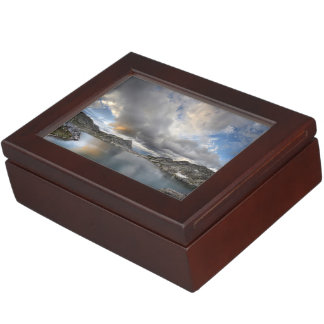 Sunset at Middle Nydiver Lake - Sierra Keepsake Box