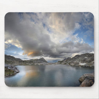 Sunset at Middle Nydiver Lake - Sierra Mouse Pad