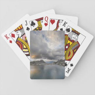 Sunset at Middle Nydiver Lake - Sierra Playing Cards