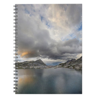 Sunset at Middle Nydiver Lake - Sierra Spiral Notebook