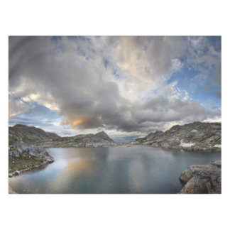 Sunset at Middle Nydiver Lake - Sierra Tablecloth