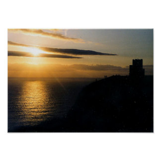 Sunset at Moher Poster