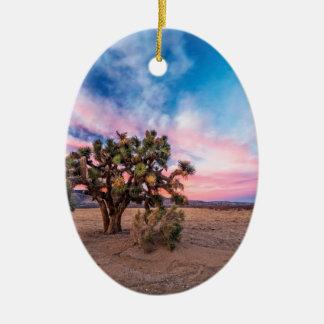 Sunset at Mojave Ceramic Ornament