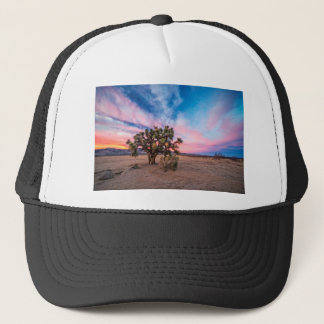 Sunset at Mojave Trucker Hat