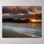 Sunset at Monastery Beach, Carmel, California, Poster