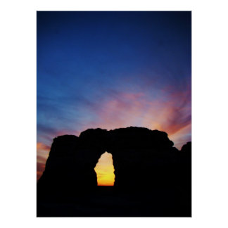 Sunset at Monument Rocks National Natural Landmark Posters