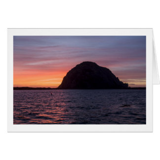 Sunset at Morro Rock greeting card