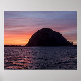 Sunset at Morro Rock poster